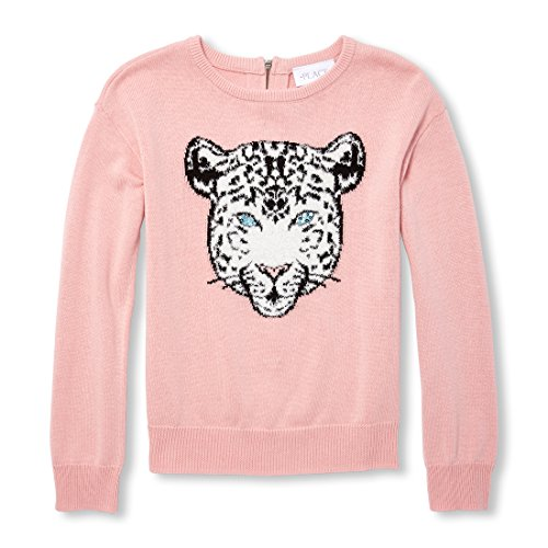 The Children's Place Girls' Big Animal and Nature Sweater, Light Plum, S (5/6) by The Children's Place (Image #1)