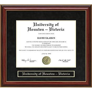 Amazon.com - University of Houston - Victoria (UHV) Diploma Frame ...