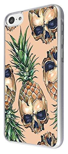 769 - Pineapple Skulls Design iphone 5C Coque Fashion Trend Case Coque Protection Cover plastique et métal