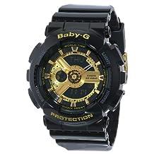 Casio Women's Baby-G BA110-1A Black Resin Quartz Watch