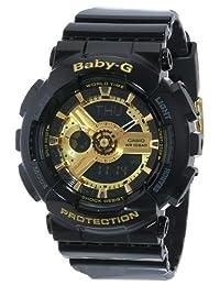 Casio BA-110-1ACR Baby-G - Reloj analógico digital para mujer con correa de resina negra