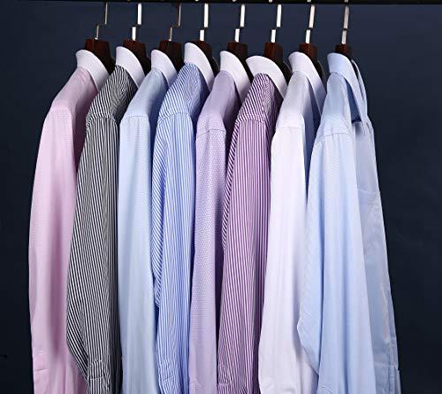 Uomo Camicia Vestibilità J Lunga Con In Strip Manica ver 02 Regolare Camicie Gemelli Business Blu Metallo 8xCnqC5