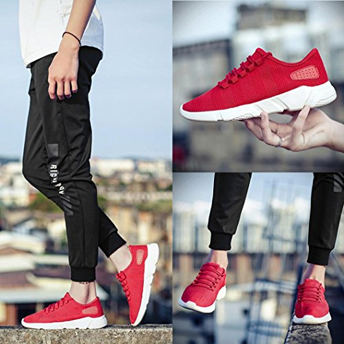 Casual Pour cross Course Loisir Rouge Strap Respirant Lac Mode Hlhn Chaussures Bout Sport Maille Gym De Hommes Rond 6wtnSFCq