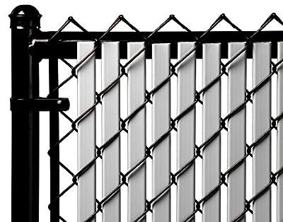 6ft Gray Tube Slats for Chain Link Fence