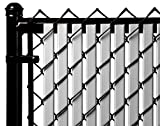 Gray Double Wall Bottom Lock Fence Slat for 7ft Chain Link