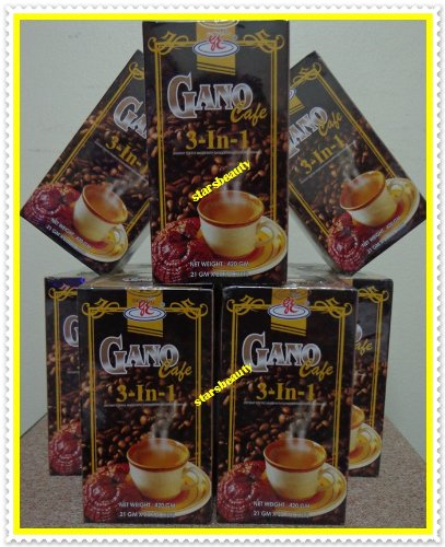 10 Boxes - GANO CAFE 3-in-1 COFFEE WITH GANODERMA HEALTHY COFFEE (200 Sachets/10 BOXES) by GANOCAFE