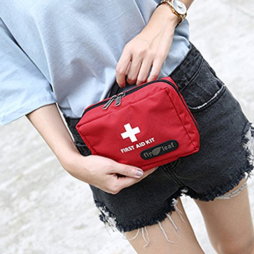 Kangkang@ Travel Home Outdoor Empty Medical Bag Emergency Bag Survival First Aid Kit Bag Waist Bag First Aid Pouch Medical Pouch Red by Kangkang