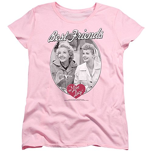 I Love Lucy 50's TV Series Best Friends Women's T-Shirt Tee Pink