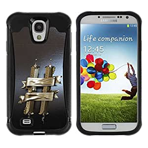 Planetar® ( H ) Samsung Galaxy S4 IV (I9500 / I9505 / I9505G) / SGH-i337 Hybrid Heavy Duty Shockproof TPU Fundas Cover Cubre Case