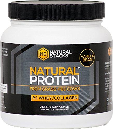 Concentré de protéines de lactosérum avec poudre de collagène bovin d'herbe - gousse de vanille - enrichis de Colostrum bovin et contient un spectre complet d'acides aminés. Améliore la masse musculaire maigre et développement de la résistance, renforce l