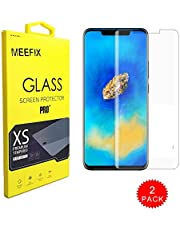 MEEFIX 2-Pack Premium Real Transparent Screen Protector Tempered Glass Film For iPhone Huawei Mate 20 Pro