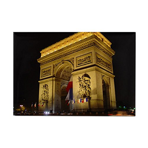CafePress - Arc de Triumph at night Rectangle Magnet - Rectangle Magnet, 2