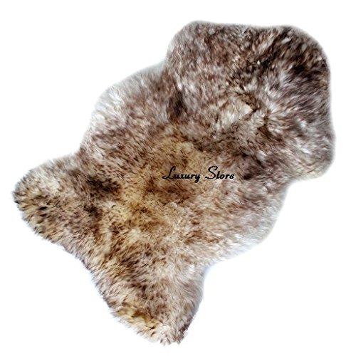 Sheepskin Rug Natural Original White-Brown (Small) Luxury Store