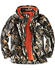 SUKINNO Fleece Jacket, Camouflage Jackets, Hunting Coats for Duck Deer Turkey Hunting, Warm Clothes for Men