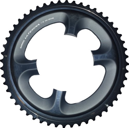 SHIMANO Ultegra 6800 11-Speed Outer Chainring Dark Grey, 53t for 53/39 ()
