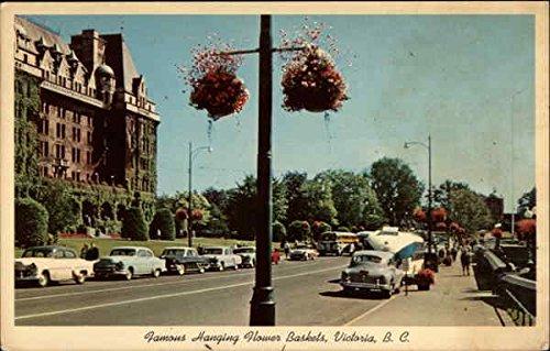 Famous Hanging Flower Baskets, Government Street and Empress Hotel Canada Original Vintage Postcard (Famous Baskets)