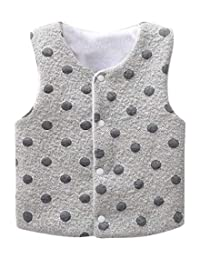 Xuan Lu Kids Organic Cotton Warm Vests Cute Soft Waistcoats Sleeveless Jacket Tops