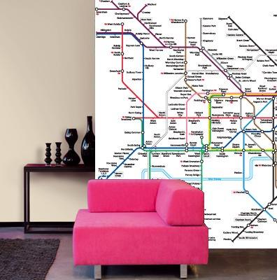 Mapa del metro de papel de cartel MURAL de 270 cm x 188 cm ...