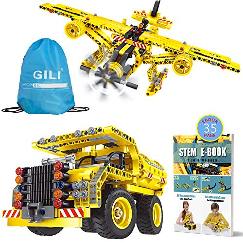 Gili Building Toys Gifts for Boys & Girls Age 6yr-12yr, Construction Engineering Kits for 7, 8, 9, 10 Year Old, Educational STEM Learning Sets for -
