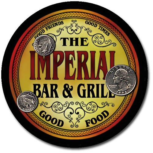 Imperial Family Bar and Grill Patriotic Rubber Drink Coaster Set
