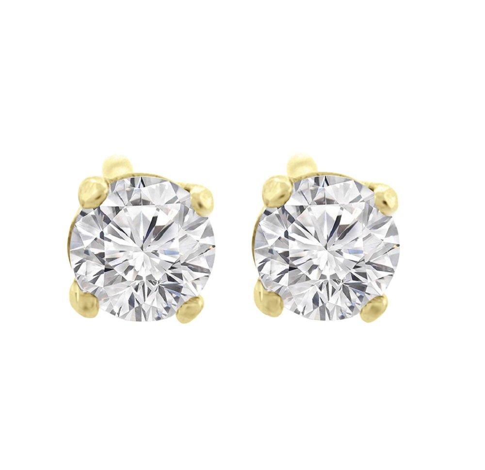 1.50 ct tw G VS1 Natural Round Diamond Studs 14K Gold Screw Back