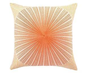 Trina Turk Down Filled Pillow, Mod Sunburst, Orange/Red, 20 by 20-Inch