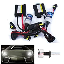 CICMOD 55W HID Xenon Conversion Headlight Kit with Silm Heavy-duty Ballasts,Single Beam Light Bulbs - H11 H8 H9 - 6000k,Diamond White