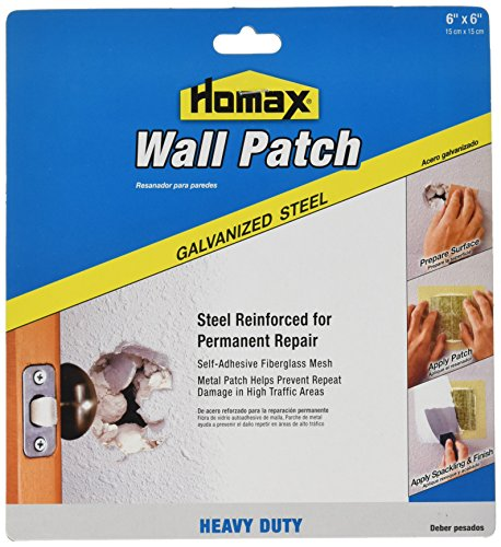Wall Hole Filler (Homax Group 5506 Heavy Duty Self Adhesive Wall Repair Patch, 6-Inch x 6-Inch)
