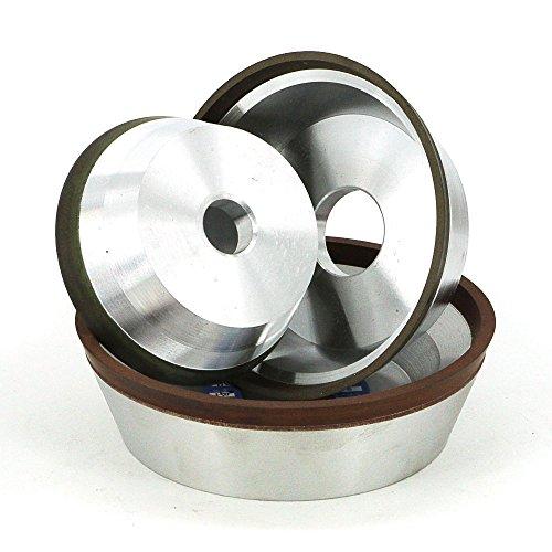 (Maslin 4/5/6 inch 11V9 Diamond flaring cup wet grinding wheel BW bowl shape diamond abrasive wheel for tungsten carbide sharpening R020 - (Grit: 120, Color: CBN wheel, Size: D150H25))