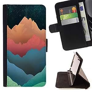 Momo Phone Case / Flip Funda de Cuero Case Cover - Tonos modelo montaña;;;;;;;; - LG Nexus 5 D820 D821