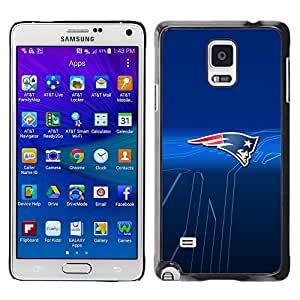 Design for Girls Plastic Cover Case FOR Samsung Galaxy Note 4 Patriots Sports Team OBBA