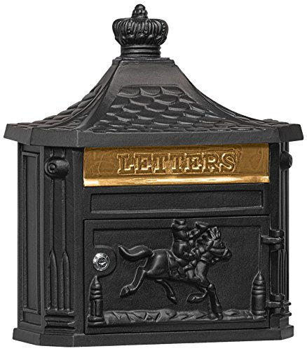 - Salsbury Industries 4460BLK Victorian Surface Mounted Mailbox, Black