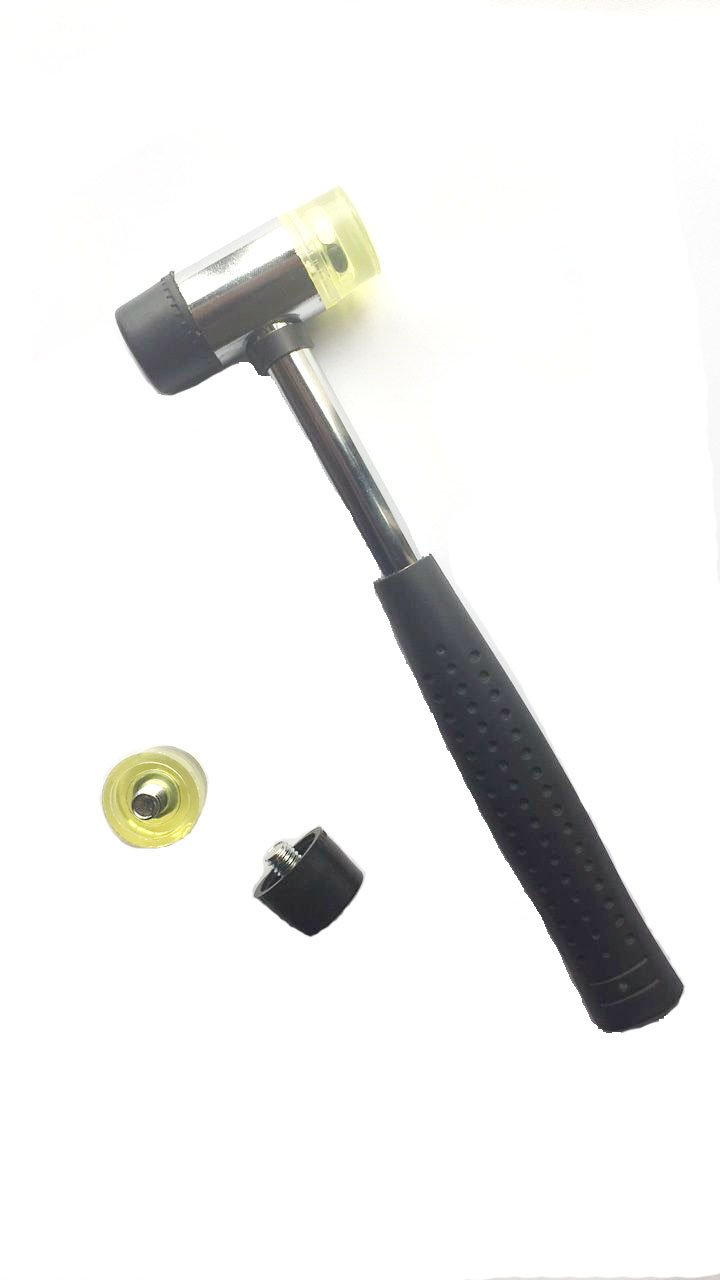 Marketty Tool 25mm Dual Head Nylon Rubber Hammer Jewelers Metal Mallet and Two Conversion Head 4336837166