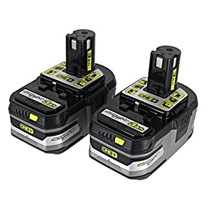 (2) Ryobi One+ 18v Lithium Plus HP Batteries 3Ah Li-Ion P191