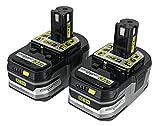 (2) Ryobi One+ 18v Lithium Plus HP Batteries 3Ah