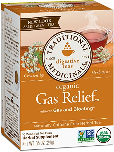 Traditional Medicinals Organic Gas Relief Digestive Tea, 16 Tea Bags (Pack of 6) ()
