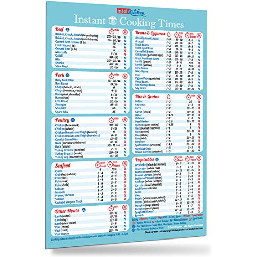 Instant Pot Accessories Cooking Times Magnet (100+ Foods) 8
