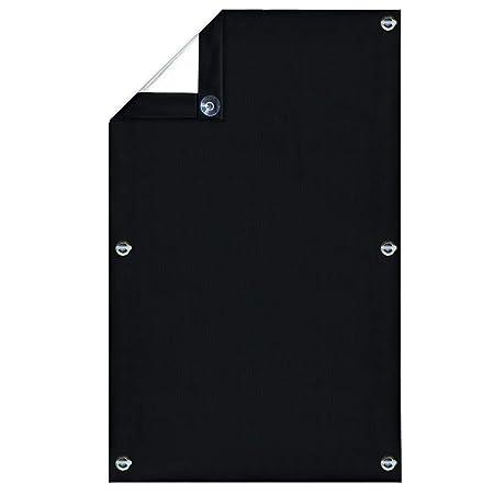Greatime 100% Lichtundurchlässig Gardinen mit Saugnäpfen Verdunkelungsvorhang, Isolierung für Velux Dachfenster (Schwarz, 60x
