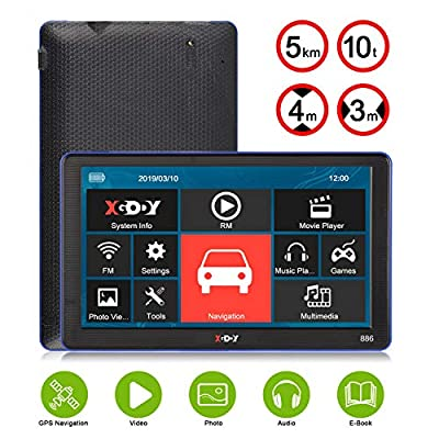Xgody GPS Navigation Systems for Car, 7 Inch HD Touch Screen 8GB Android Vehicle GPS Navigator for Truck Drivers with Free Lifetime Map Updates Voice Broadcast: GPS & Navigation