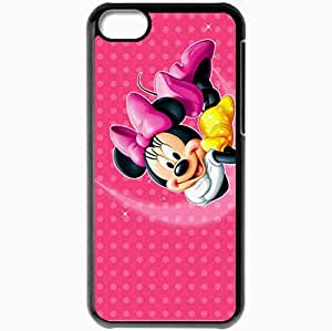 Personalized iPhone 5C Cell phone Case/Cover Skin Disney Minnie Mouse Black