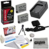 2 Extended Life Replacement Battery Packs For the Canon LP-E8 LPE8 2000MAH Each 4000MAH in Total For the Canon EOS Rebel T2i T3i T4i T5i 550D 600D 650D 700D Kiss X4 X5 X6 X6i X7i DSLR Digital Camera, 2 Batteries In Total + 1 hour AC/DC Rapid Battery Charger + Opteka GS-3 Neoprene Padded Dual Grip/Wrist Strap + Deluxe Lens Cleaning Kit + LCD Screen Protectors + Mini Tripod + 47stphoto Microfiber Cloth Photo Print !