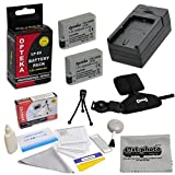 2 Extended Life Replacement Battery Packs For the Canon LP-E8 LPE8 2000MAH Each 4000MAH in Total For the Canon EOS Rebel T2i T3i T4i T5i 550D 600D 650D 700D Kiss X4 X5 X6 X6i X7i DSLR Digital Camera, 2 Batteries In Total + 1 hour AC/DC Rapid Battery Charg