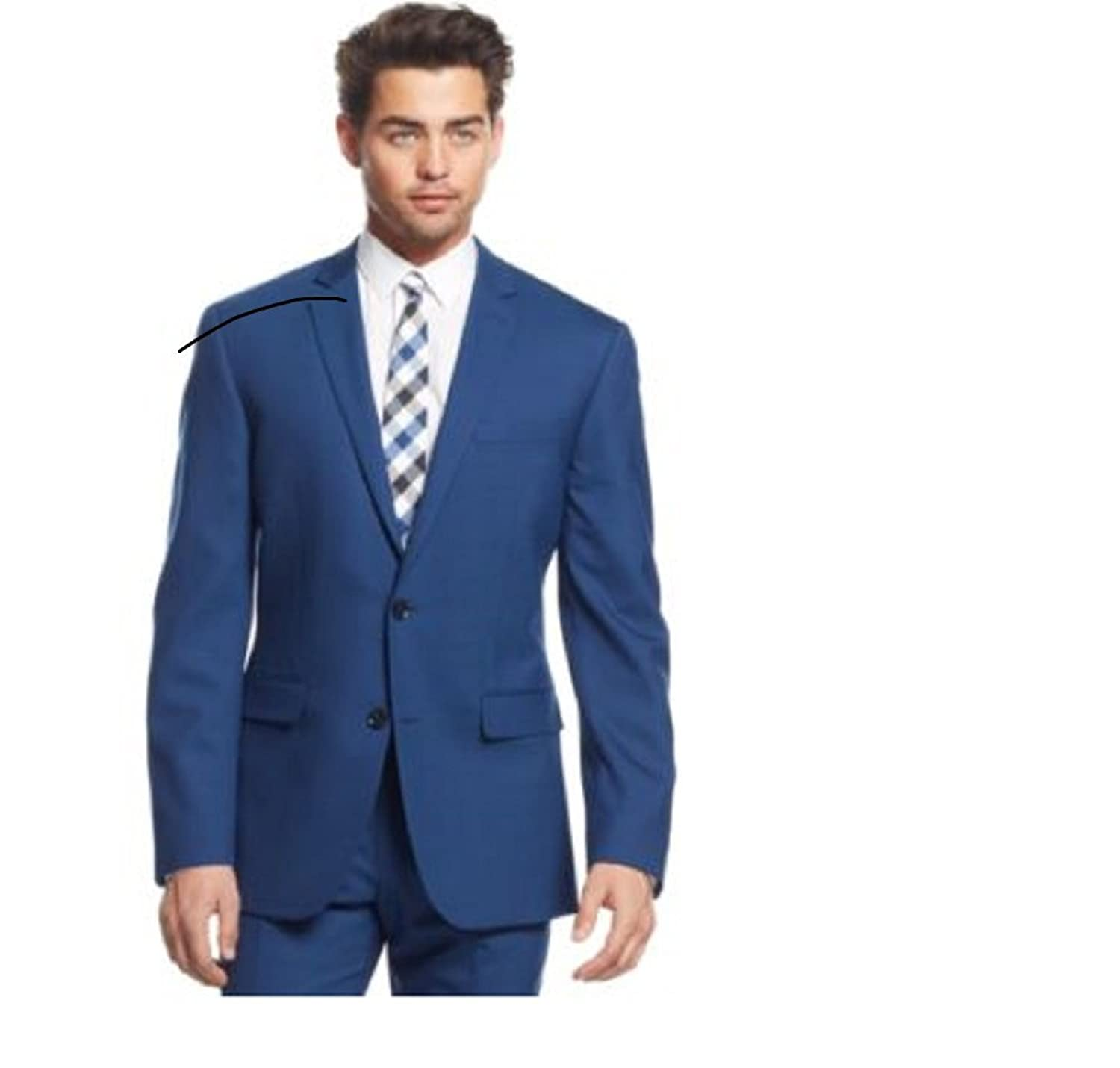 Bar III Cobalt Blue Solid Slim-Fit Suit 40 Long W at Amazon Men's ...
