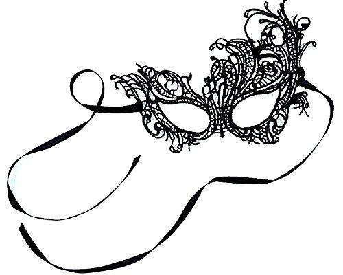 [Venetian Black Masquerade Mask,Lace Halloween Phoenix mask] (Black Lace Masquerade Masks)