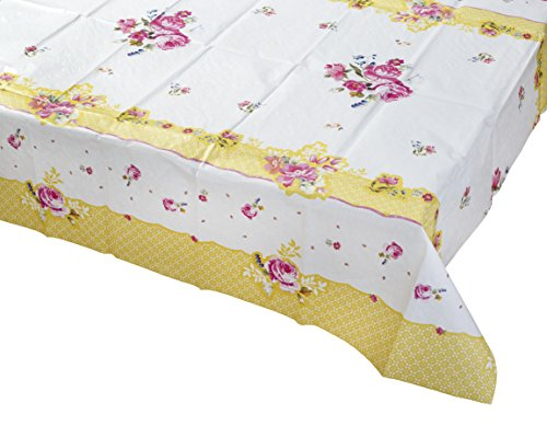 Talking Tables Pretty Floral, Paper Table Cover, Multi-Colour, 180 x 120cm by Talking Tables