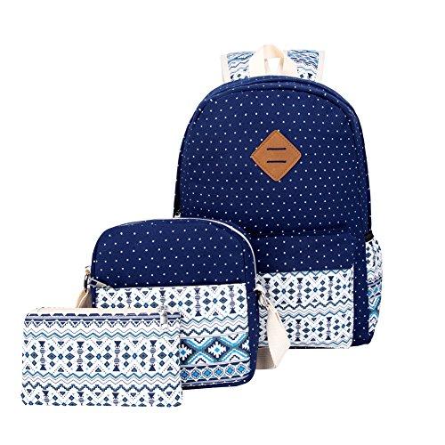 Girls Blue School College Backpacks Daypack Laptop Casual Cute Bookbags School Bags