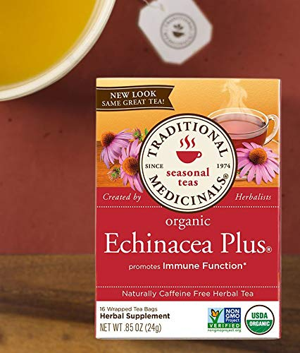 (Traditional Medicinals Tea Echinacea Plus Org, 16 count (0.85 0z))
