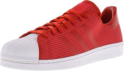 Adidas Menns Super Rød / Core Rosa Sko Hvit Ankelhøye Lerret Fashion Sneaker - 11.5m