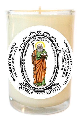 St Joachim Blessed Father of Mary Patron of Dads & Grandfathers 8 Oz Candle by Touched By The Saints