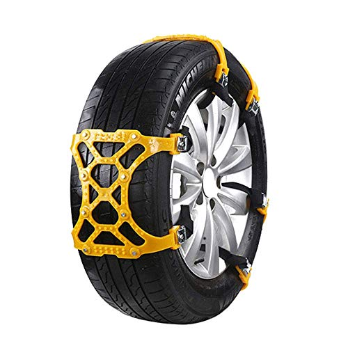 Jenify Snow Chains for Car Universal, Winter Tire Chains Anti-Skid Tire Snow Chains for Cars Light Trucks SUV Sedan Family Automobiles ATV 6Pcs (Best Snow Tires For Sedans)